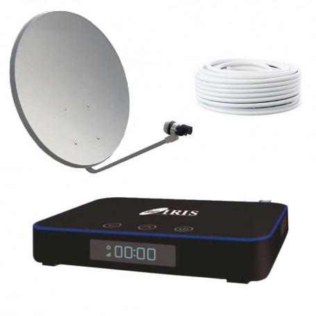 KIT  IRIS 2000 HD + PARABÓLICA 60 + LNB + 25 MTS CABLE