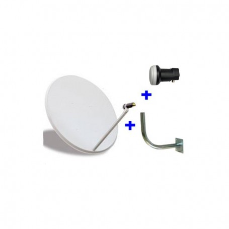 Kit PARÁBOLA 60 CM + Cable coaxial de 20 metros.