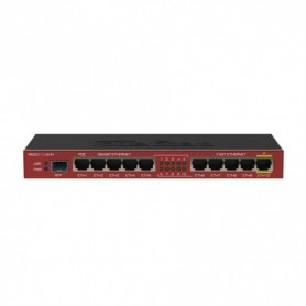 RB2011ILS-IN - Routerboard SIN WIFI, 600Mhz, 64MB RAM, x5 Gb, x5 10/100 y x1 SFP. Level 4