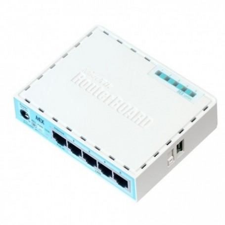 HEX - Routerboard SIN WIFI, 2 Cores, 880MHz, 256Mb RAM, x5 Gb. MicroSD. Level 4