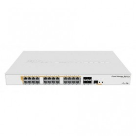 CRS328-24P-4S+RM - Cloud Router Switch x24 Gb POE (500W) 4 SFP+